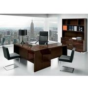Pisa Executive Desk w/Keyboard Tray Made in Italy  alternate image, 2 of 8 images.