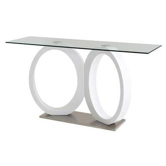 Stop 36 White Console Table