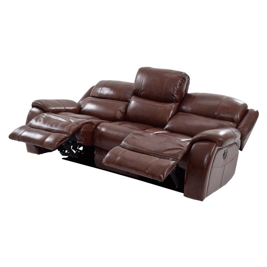 Abilene Leather Power Reclining Sofa  alternate image, 3 of 8 images.