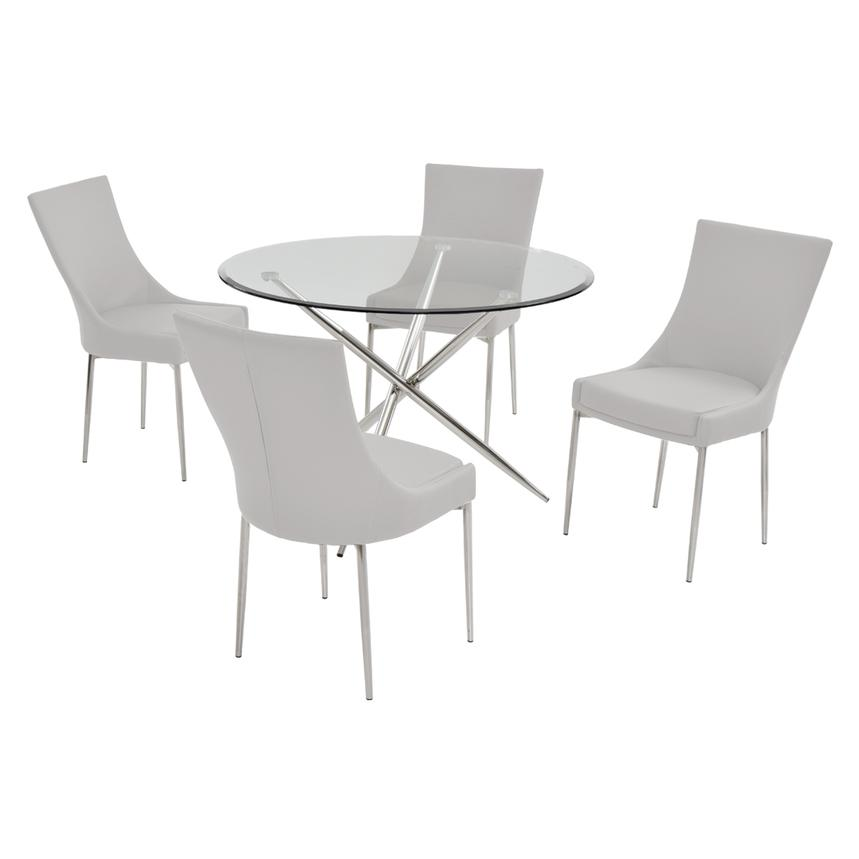 Patricia White 5-Piece Dining Set  main image, 1 of 7 images.