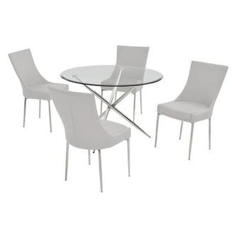 Patricia White 5-Piece Dining Set