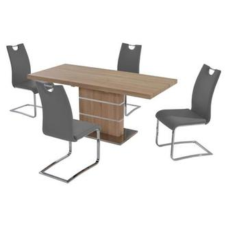 Lorange/Josseline Gray 5-Piece Casual Dining Set
