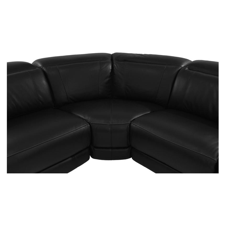 Davis Black Power Motion Leather Sofa w/Right & Left Recliners  alternate image, 5 of 9 images.