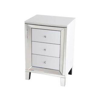 Amia White Mirrored Cabinet