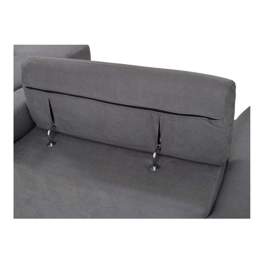 Ilias Gray Corner Sofa w/Right Chaise  alternate image, 4 of 8 images.