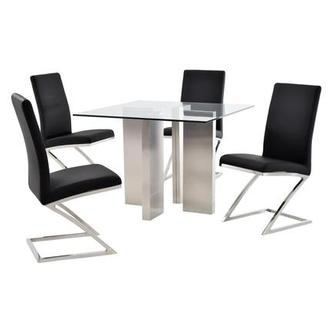 Soler/Jade Black 5-Piece Casual Dining Set