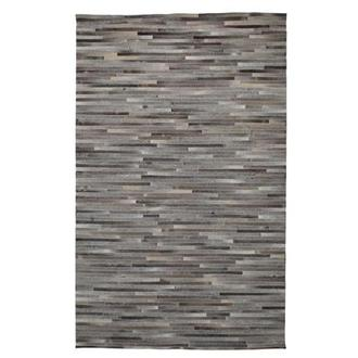 Capri Gray Cowhide Patchwork 5' x 8' Area Rug
