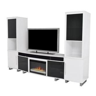 Enterprise White Wall Unit w/Speakers