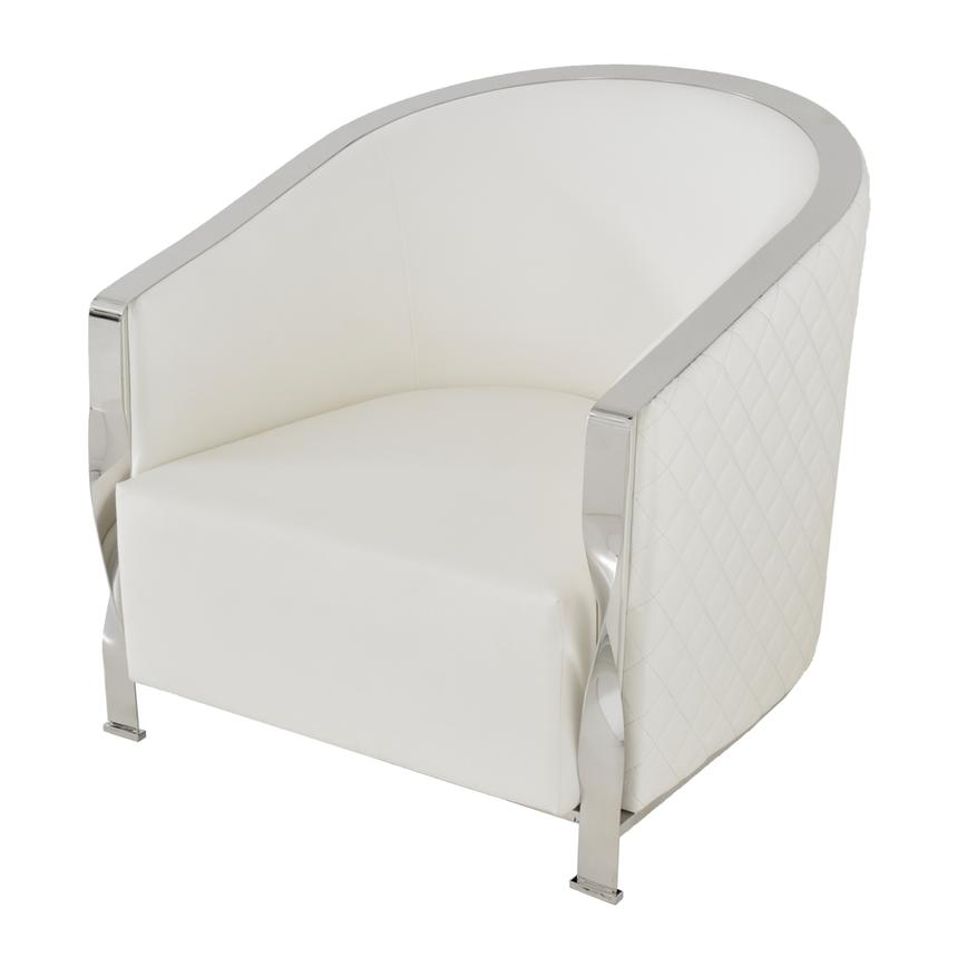 Maxi White Accent Chair  main image, 1 of 5 images.