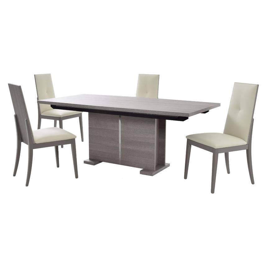 Tivo Gray 5-Piece Dining Set  main image, 1 of 14 images.