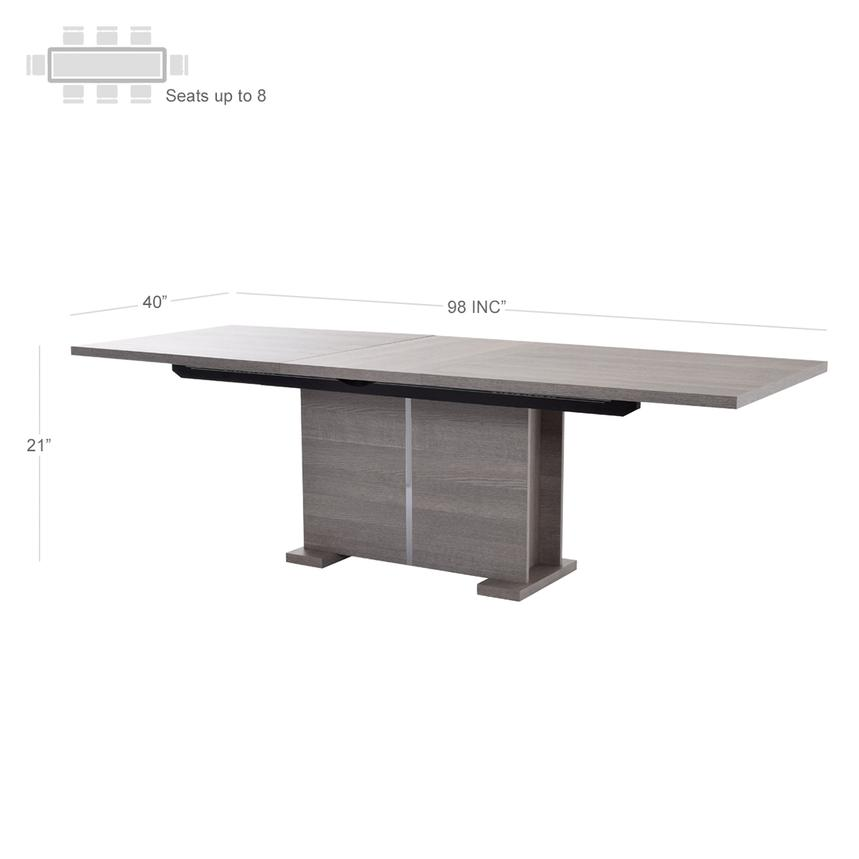 Tivo Extendable Dining Table Made in Italy  alternate image, 4 of 7 images.