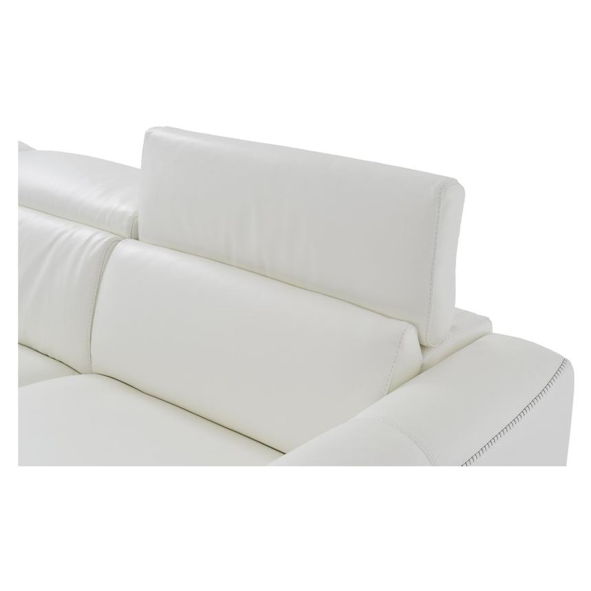 Bay Harbor White Leather Sleeper w/Right Chaise  alternate image, 4 of 10 images.