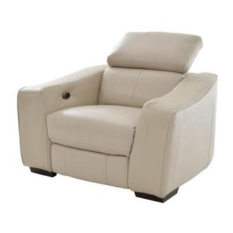 James Cream Power Motion Leather Recliner