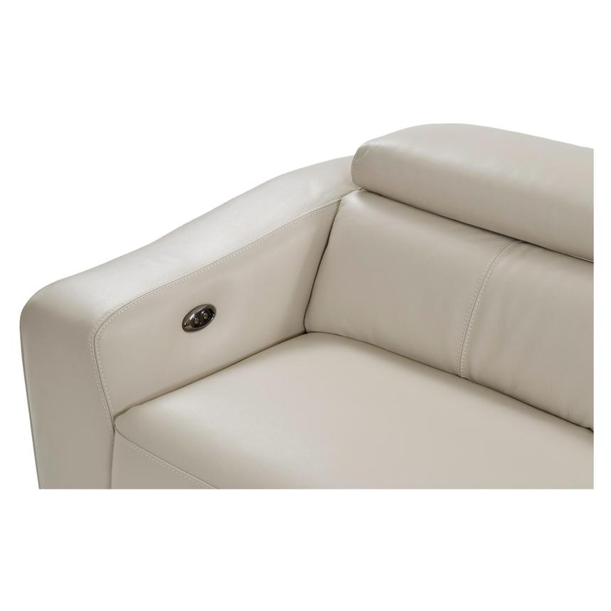 James Cream Power Motion Leather Sofa w/Right & Left Recliners  alternate image, 5 of 9 images.