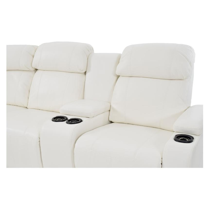 Magnetron White Power Motion Sofa w/Right & Left Recliners  alternate image, 5 of 9 images.