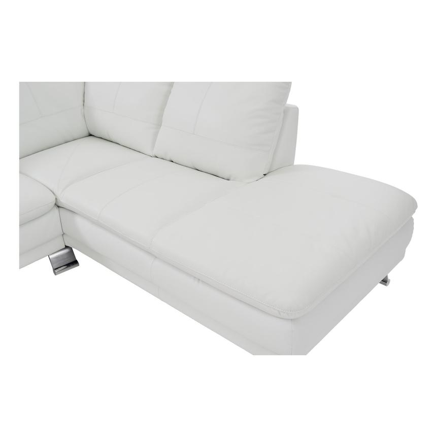 Rio White Leather Sofa w/Right Chaise  alternate image, 5 of 7 images.