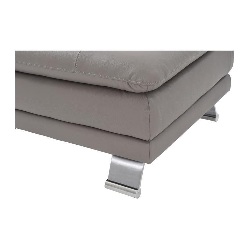 Terrific Rio Light Gray Leather Ottoman Made In Brazil Inzonedesignstudio Interior Chair Design Inzonedesignstudiocom