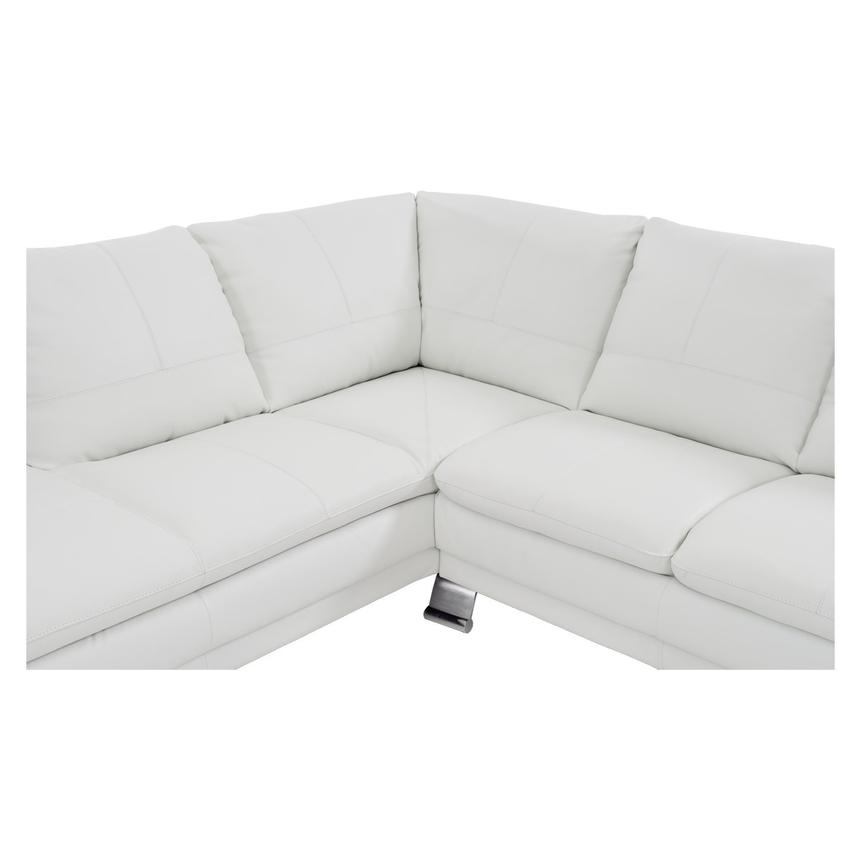 Rio White Leather Sofa w/Left Chaise  alternate image, 4 of 7 images.