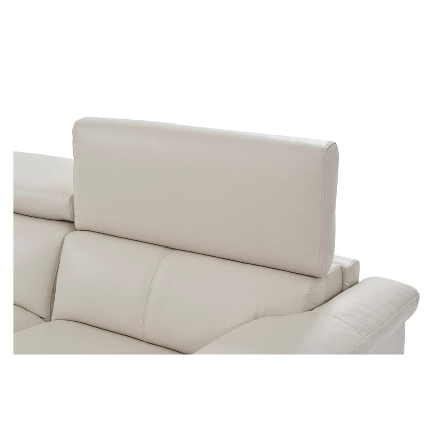 Nathan Cream Oversized Leather Sofa  alternate image, 5 of 10 images.
