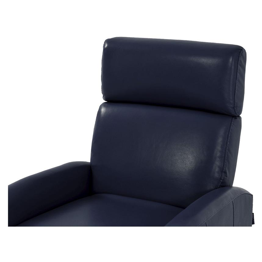 Lucca Blue Power Motion Leather Recliner  alternate image, 5 of 7 images.