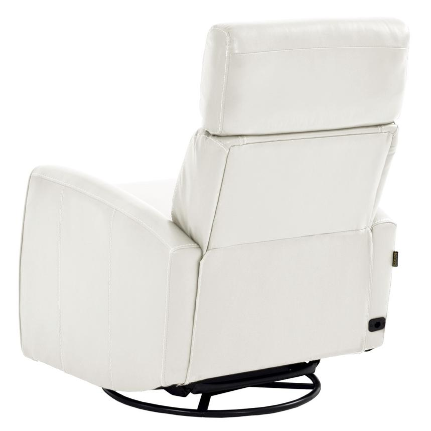 Lucca White Power Motion Leather Recliner  alternate image, 4 of 7 images.