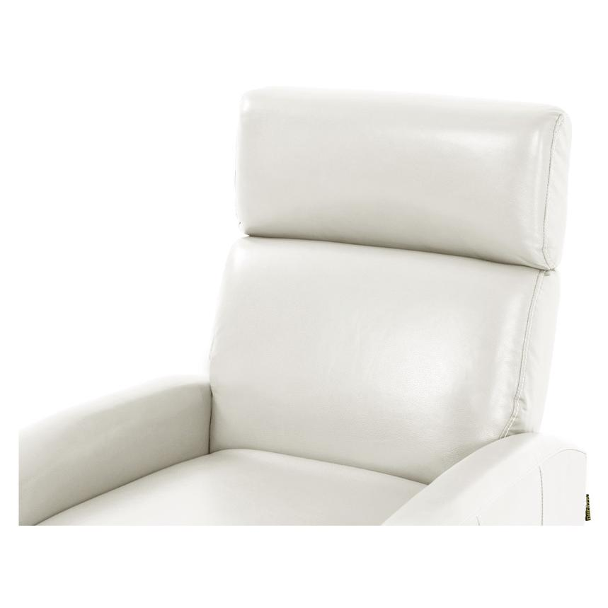 Lucca White Leather Power Recliner  alternate image, 5 of 8 images.