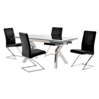 Lynne Clear/Jade Black 5-Piece Dining Set