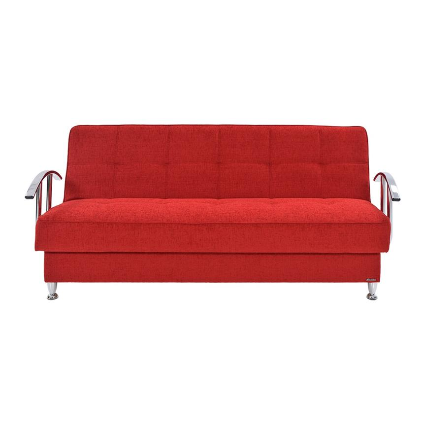 Betsy Red Futon w/Storage  alternate image, 4 of 8 images.