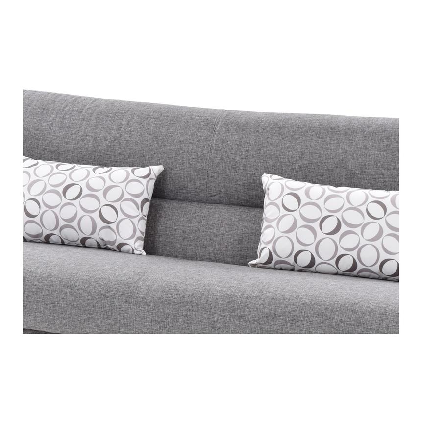 Regata Gray Futon w/Storage  alternate image, 7 of 9 images.