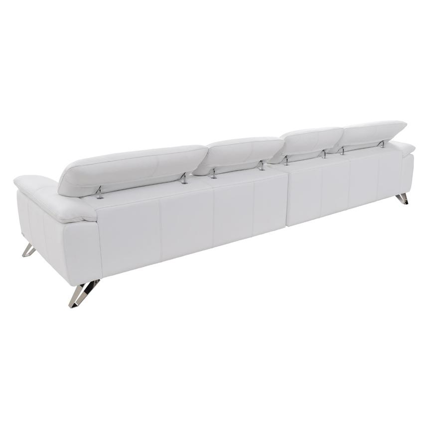 Tesla White Oversized Leather Sofa  alternate image, 4 of 7 images.