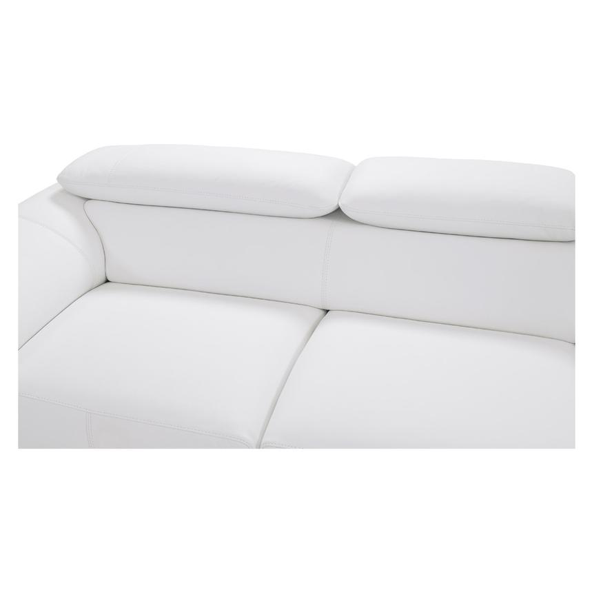 Tesla White Oversized Leather Sofa  alternate image, 5 of 7 images.