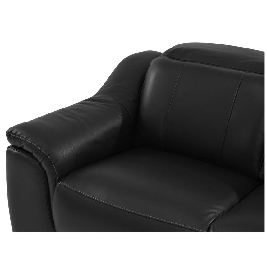 Davis Black Power Motion Leather Sofa w/Right & Left Recliners  alternate image, 4 of 9 images.