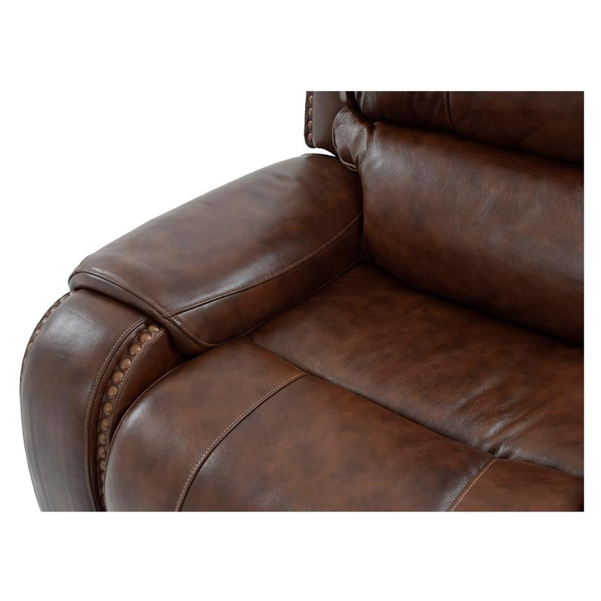 Durham Power Motion Leather Sofa w/Console  alternate image, 10 of 12 images.