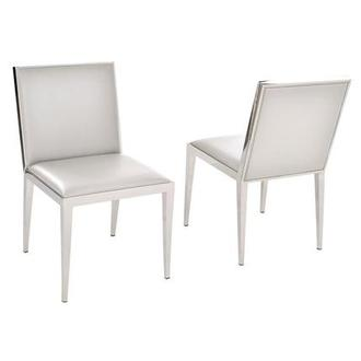 Gemma White Side Chair
