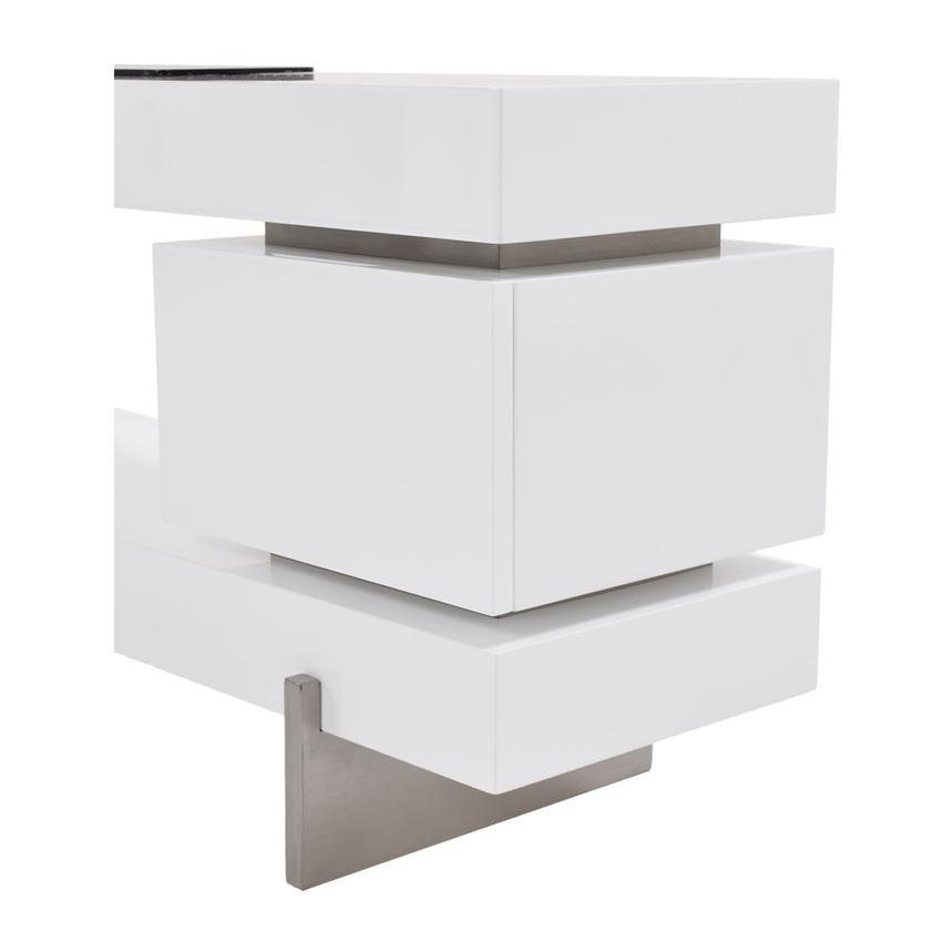 Darius White Tv Stand El Dorado Furniture