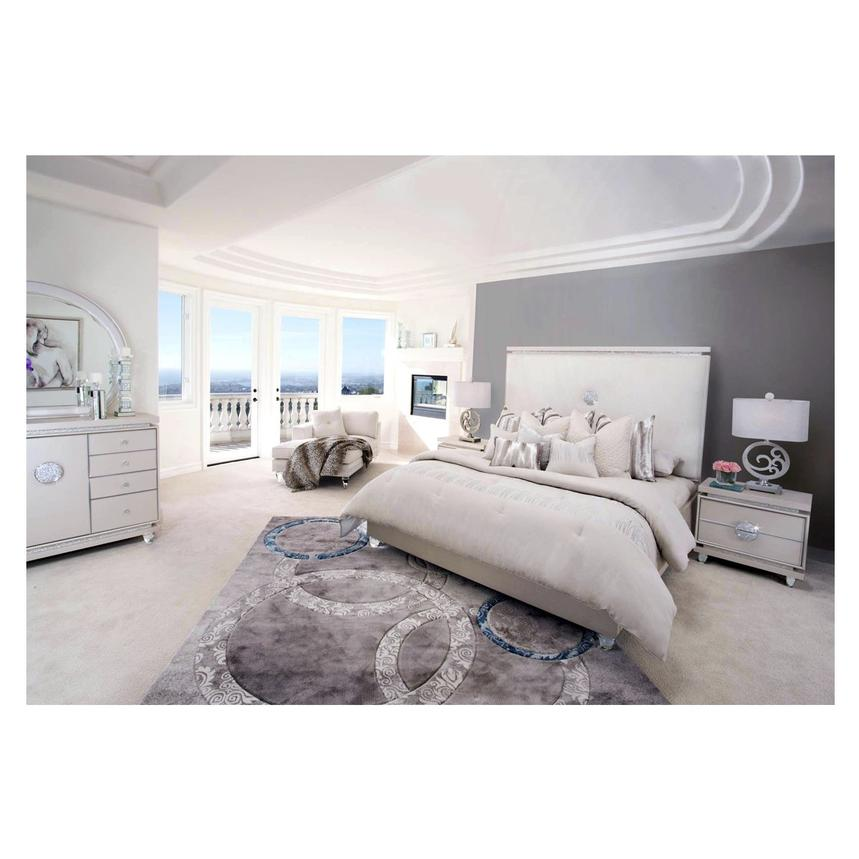 Glimmering Heights King Platform Bed El Dorado Furniture