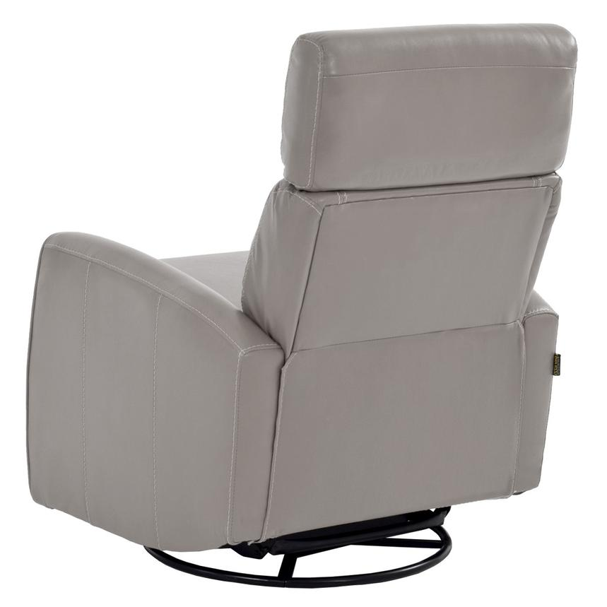 Lucca Gray Power Motion Leather Recliner  alternate image, 4 of 7 images.