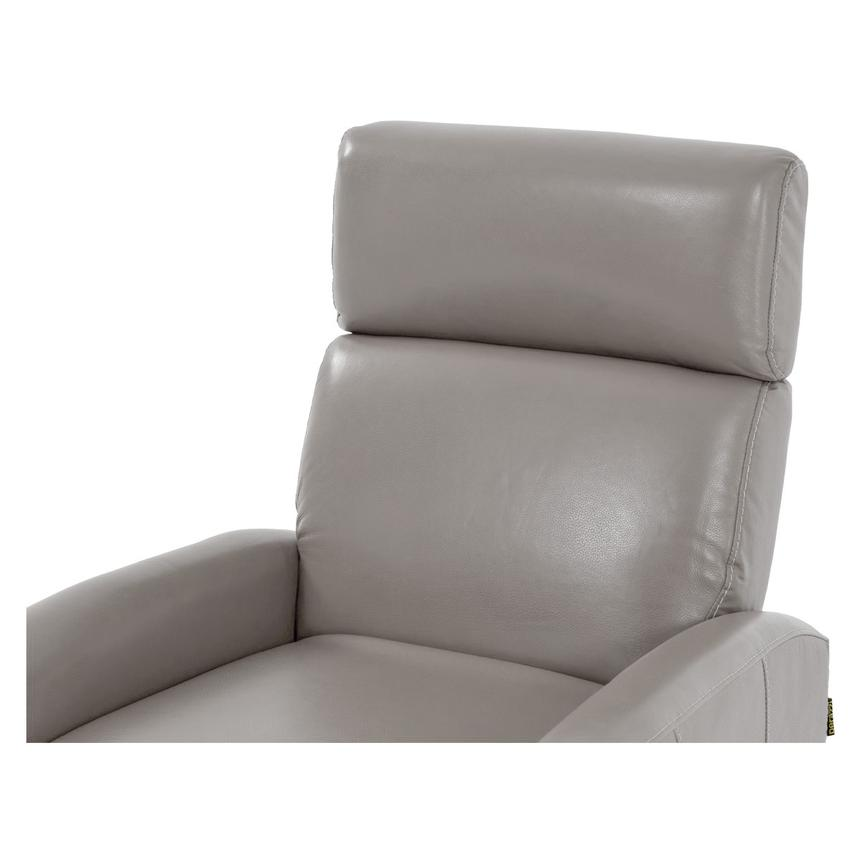Lucca Gray Leather Power Recliner  alternate image, 5 of 7 images.