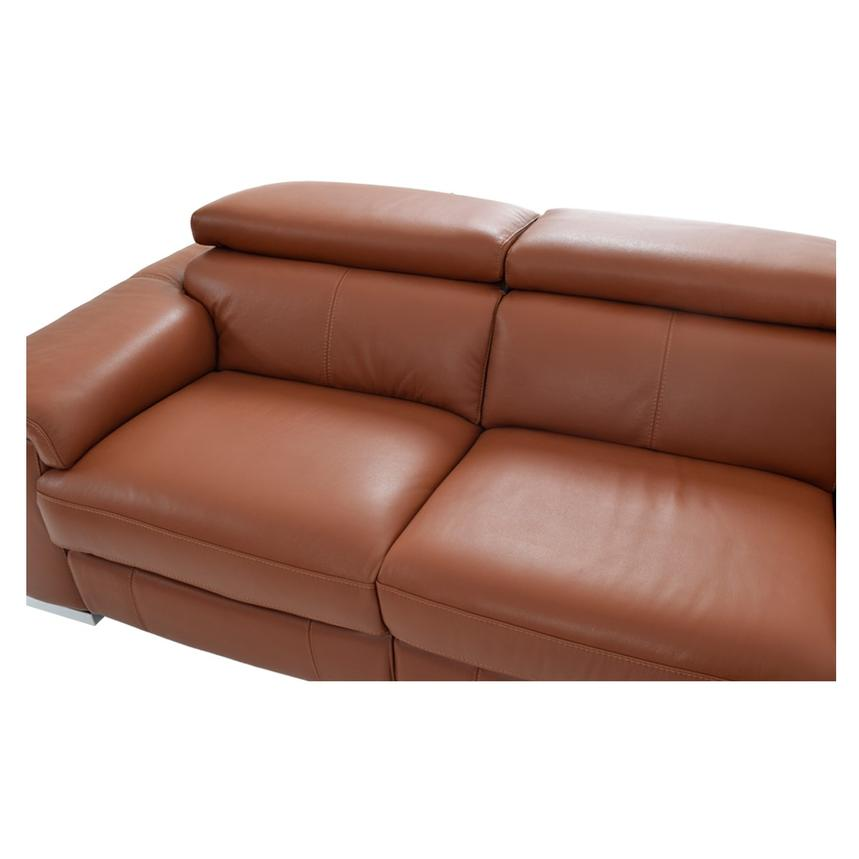 Nathan Tan Power Motion Leather Sofa w/Right & Left Recliners  alternate image, 4 of 5 images.