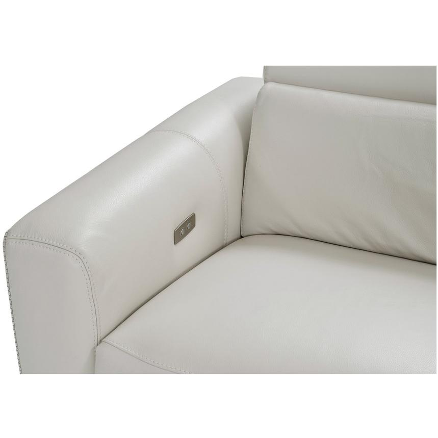 Bay Harbor Cream Power Motion Leather Sofa w/Right Sleeper  alternate image, 5 of 8 images.