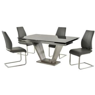 Jessy/Maday Gray 5-Piece Formal Dining Set