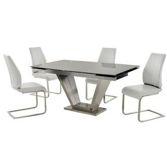 Jessy/Maday White 5-Piece Dining Set