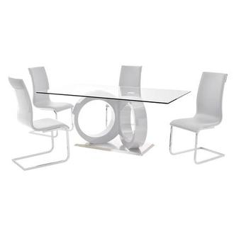 Stop 36 White 5-Piece Dining Set