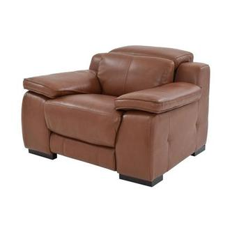 Gian Marco Tan Power Motion Leather Recliner