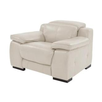Gian Marco Cream Leather Power Recliner