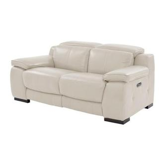 Gian Marco Cream Leather Power Reclining Loveseat