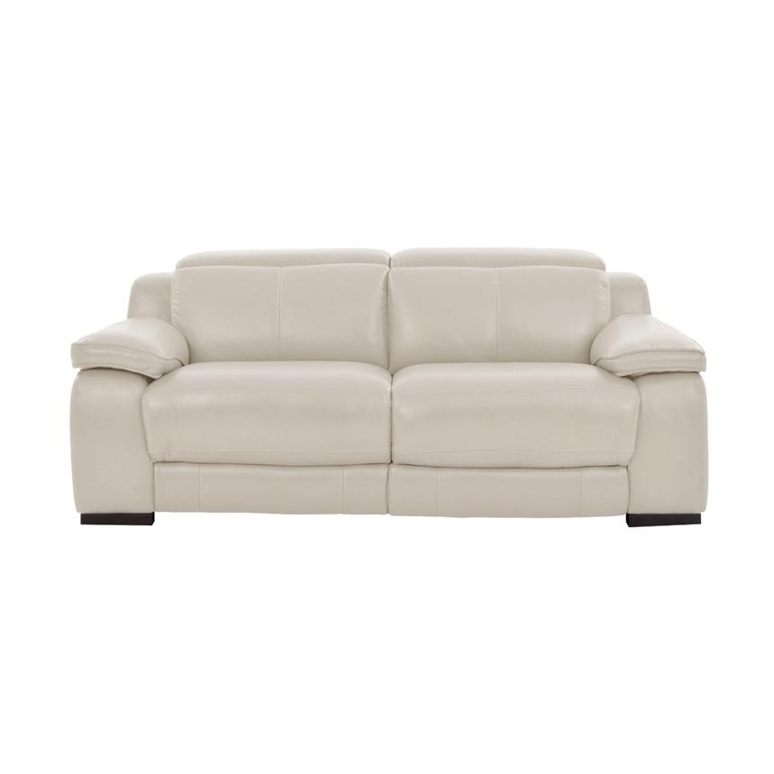 Gian Marco Cream Leather Power Reclining Loveseat  alternate image, 4 of 10 images.