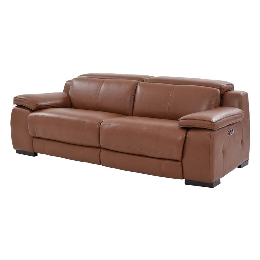 Gian Marco Tan Leather Power Reclining Sofa  alternate image, 3 of 10 images.