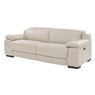 Gian Marco Light Gray Leather Power Reclining Sofa