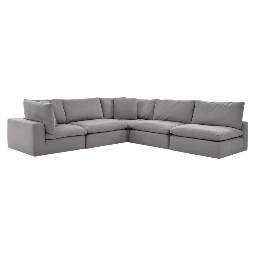 Nube II Gray Sectional Sofa  main image, 1 of 11 images.